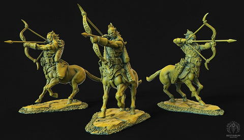 "Wrath of the Wild ""Centaur female Archer 1"" Bestiarum Miniatures 28mm35mm Boneshop"