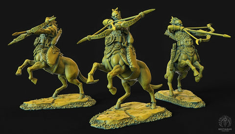 "Wrath of the Wild ""Centaur female Archer 2"" Bestiarum Miniatures 28mm35mm Boneshop"
