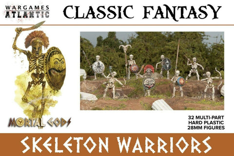 "Classic Fantasy ""Skeleton Warriors"" BASE-Bundle Wargames Atlantic 28mm Boneshop"