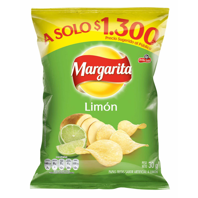 PAPAS MARGARITA LIMON 30G