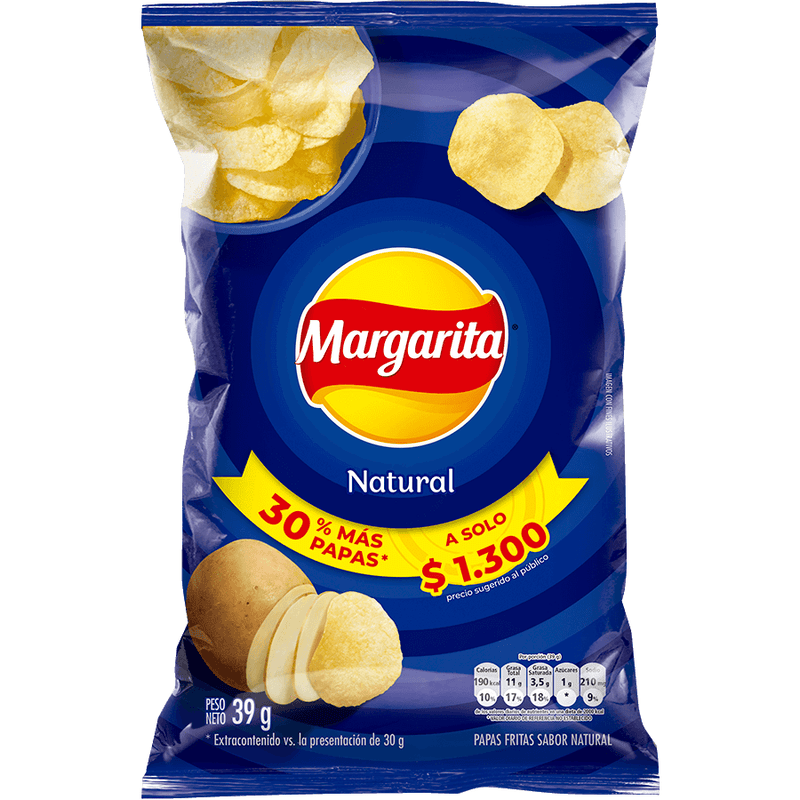 MARGARITA NATURAL 39G