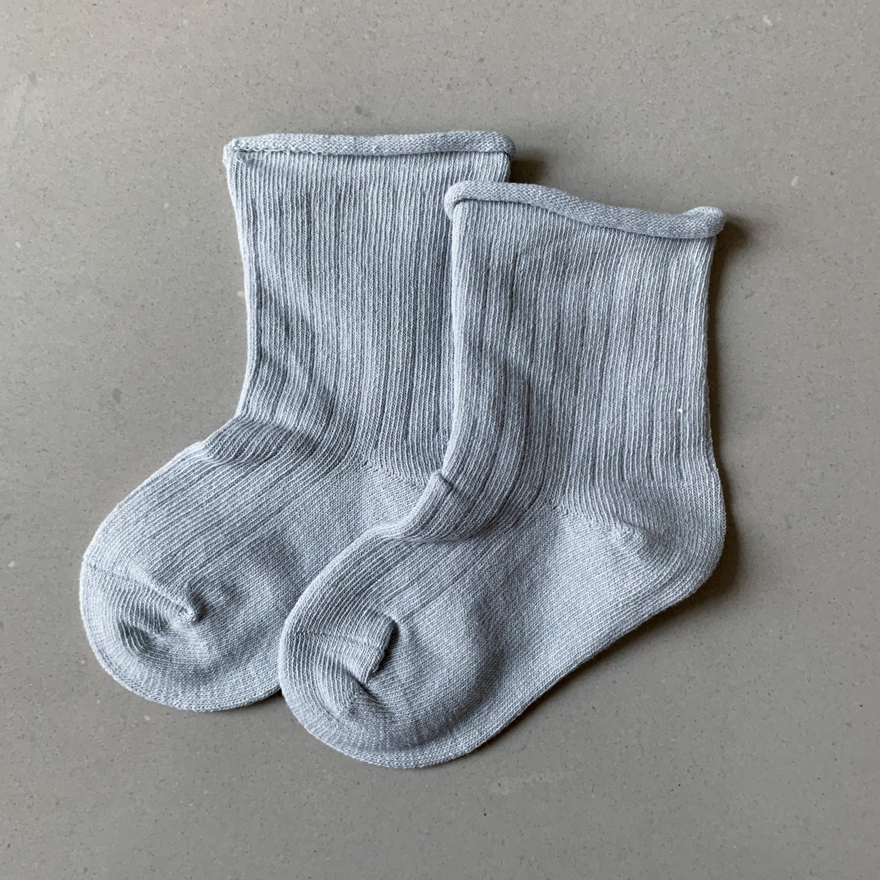 QUINN Ribbed Socks - Grey