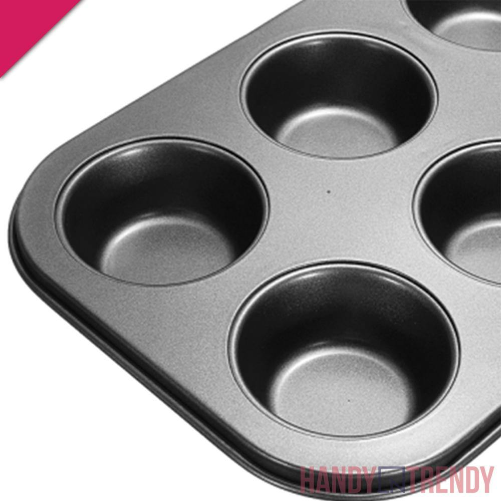 6 Holes Cupcake Pan - HandynTrendy Shop