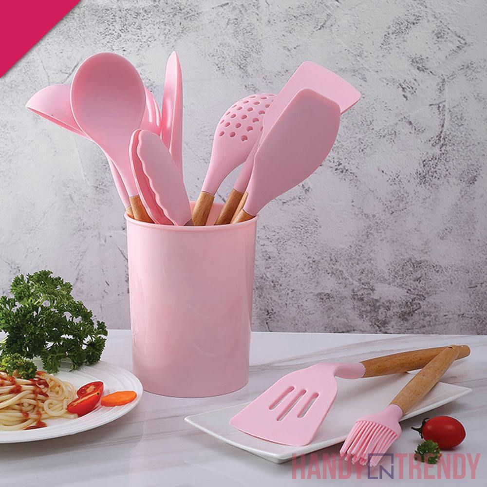 12pcs Silicone Utensils Set - 3 Colors