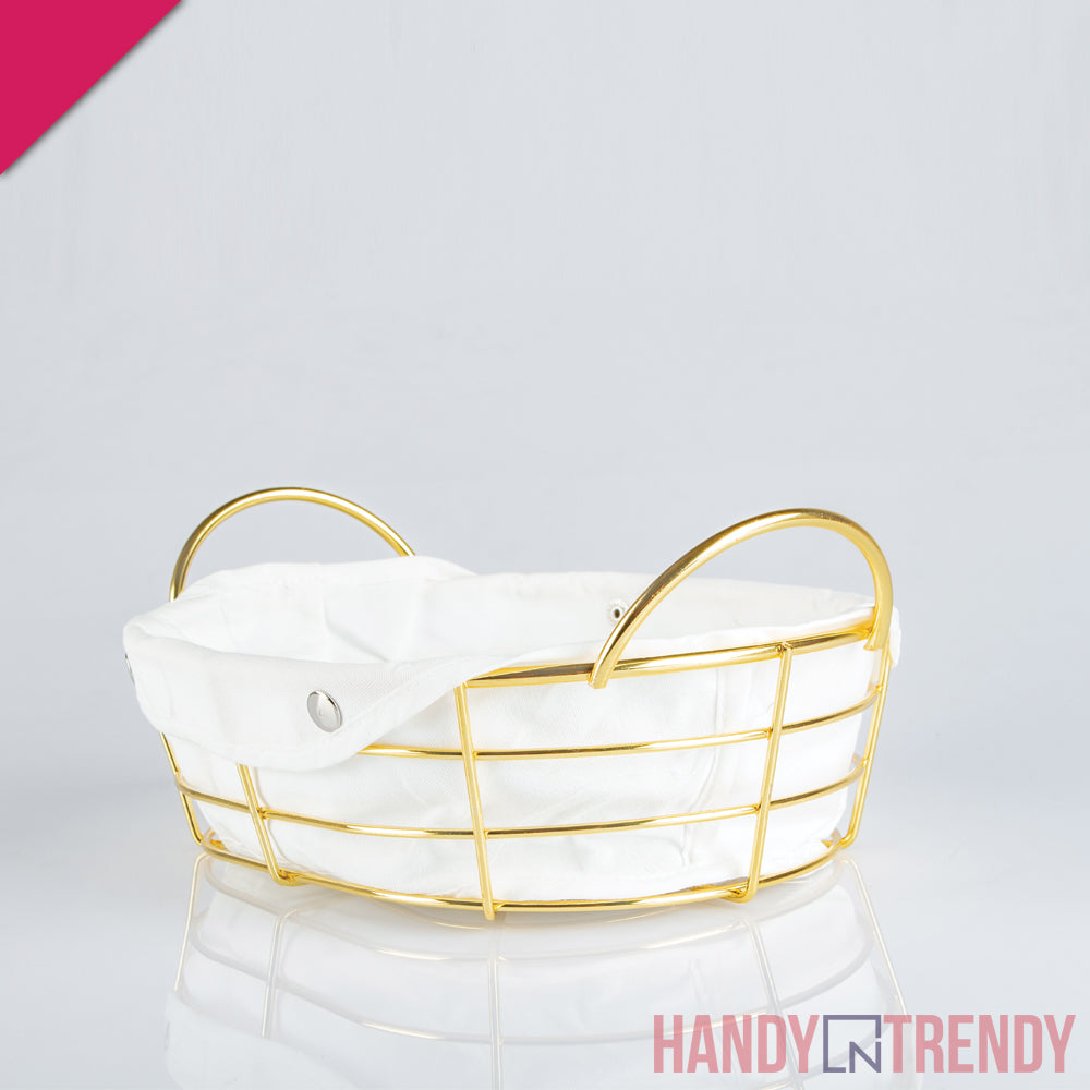 stainless steel bread basket, bread basket, bread basket with cloth, metal bread basket, tableware, basket for serving bread and roti, kitchen tools and accessories, kitchen tool and accessories in karachi, kitchen tools in lahore, kitchen tools in islamabad, kitchen tools in rawalpindi, handyntrendy