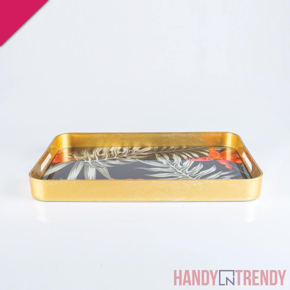 2pcs Tropical Serving Tray Set