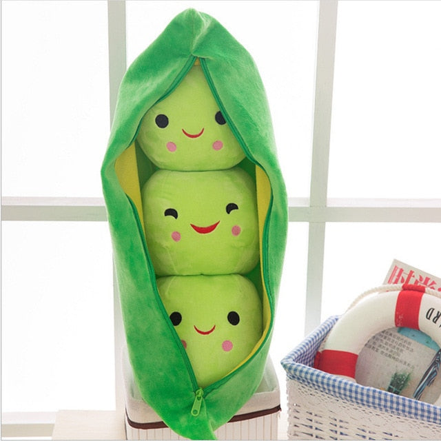 Pea pod pillow - with mini pillows inside - Green