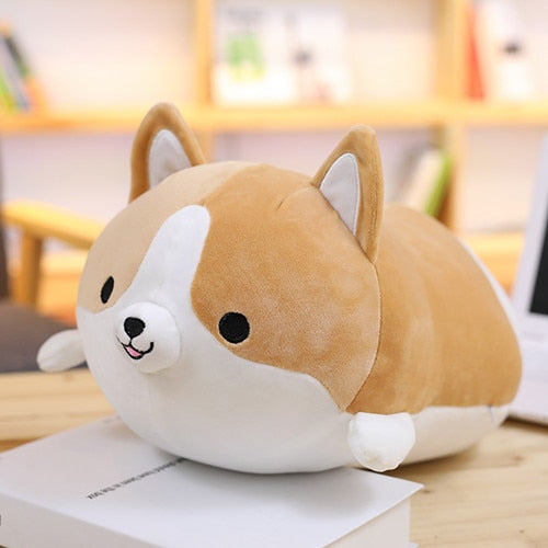 Corgi Dog Pillow - Brown