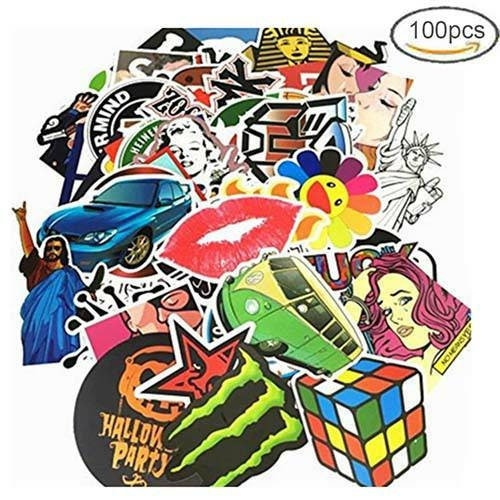 100 Random Stickers, Waterproof, bumper sticker, laptop stickers, no duplicates