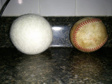 Load image into Gallery viewer, Organic White Dryer Balls - Hand rolled & Triple Felted
