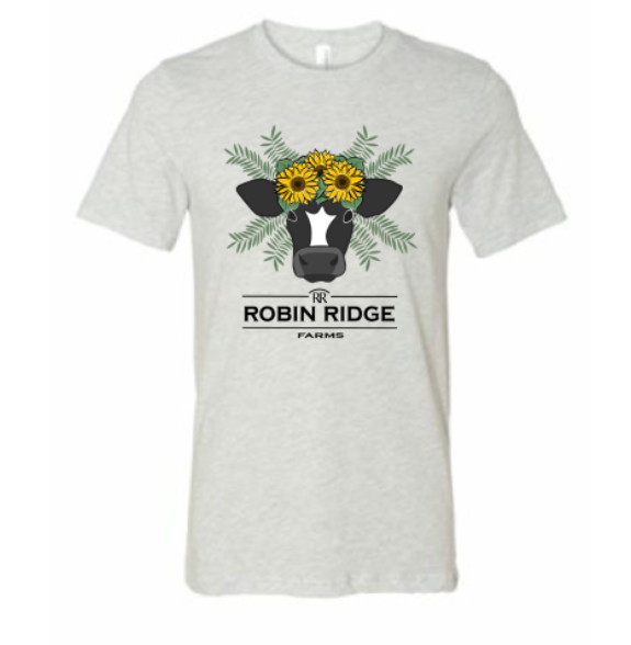 Robin Ridge Farms T-Shirt - Cow with sunflowers
