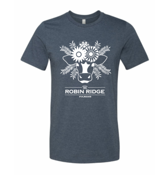 Robin Ridge Farms T-Shirt - Navy Cow