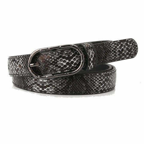 black snakeskin belt