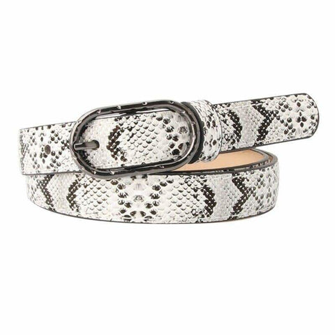 white snakeskin belt