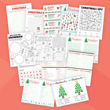 Load image into Gallery viewer, Printable Christmas Game Bundle for Kids