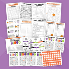 Load image into Gallery viewer, Printable Halloween Game Bundle for Kids
