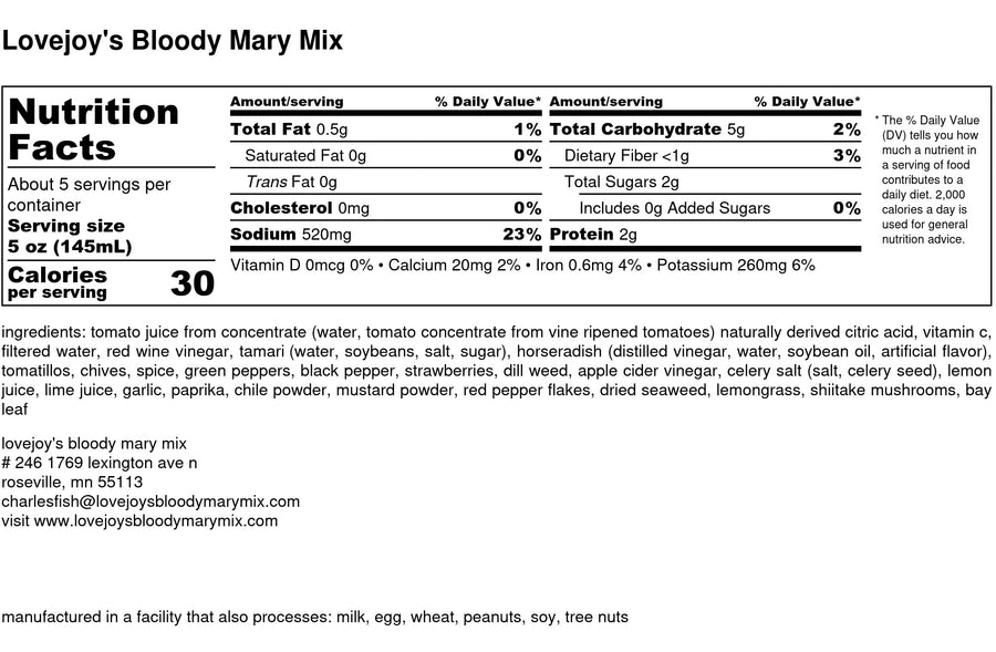 Bloody Mary Mix - Original