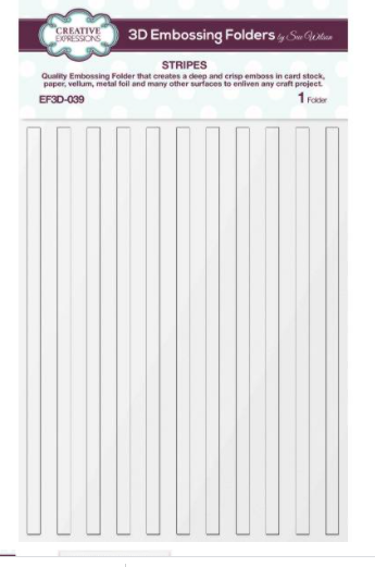 3D Embossing Folder Stripes