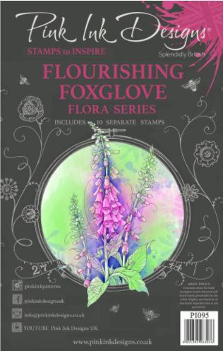Flourishing Foxglove A5 Clear Stamp Set
