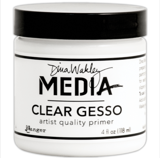 Dina Wakley Media Gesso 4oz Jar-Clear