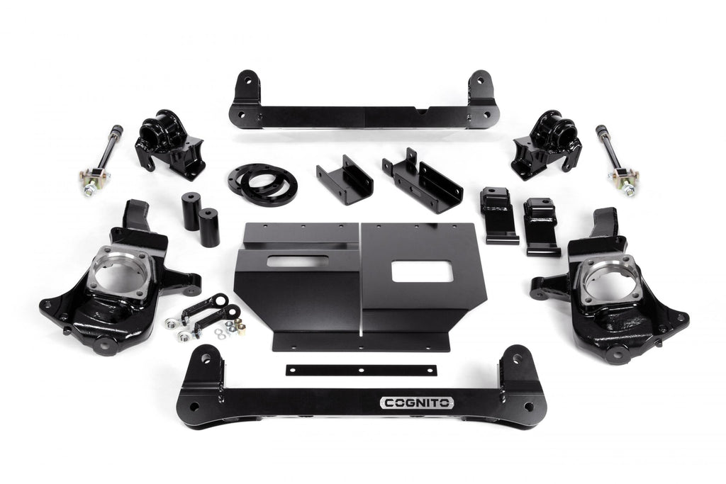 Cognito 4-6 Inch Non-Torsion Bar Drop Front Suspension Lift Kit For 11-19 Silverado/Sierra 2500HD/3500HD 4WD