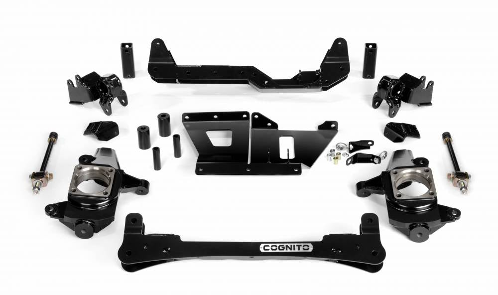 Cognito 4-6 Inch Non-Torsion Bar Drop Front Suspension Lift Kit For 01-10 Silverado/Sierra 1500HD-3500HD 2WD 01-13 2500 2WD SUVS