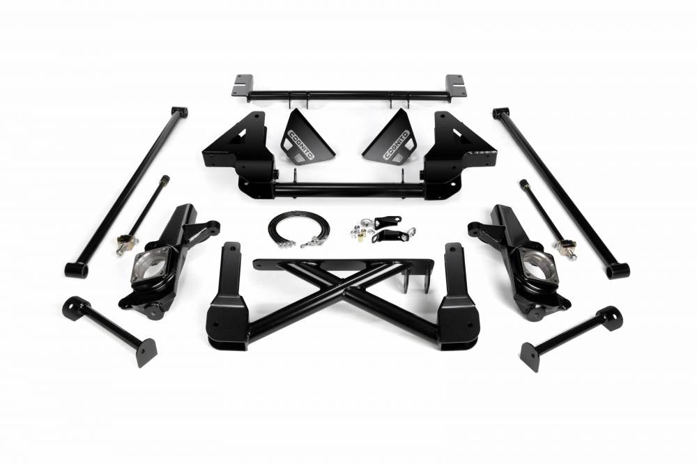 Cognito 10-12 Inch Front Suspension Lift Kit For 01-07 Silverado/Sierra 1500HD-3500HD 2WD 01-13 2500 2WD SUVS Sae Thread OE Brake Lines