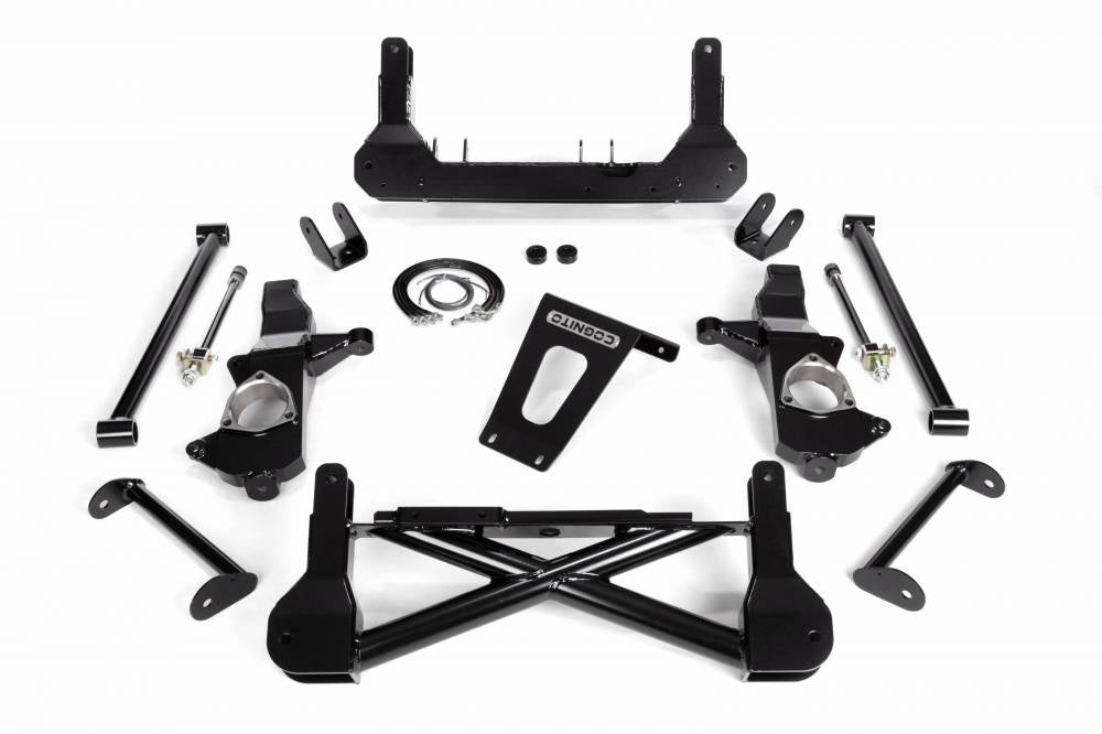 Cognito 10-12 Inch Front Suspension Lift Kit For 07-18 Silverado/Sierra 1500 2WD SUVS Stabilitrak