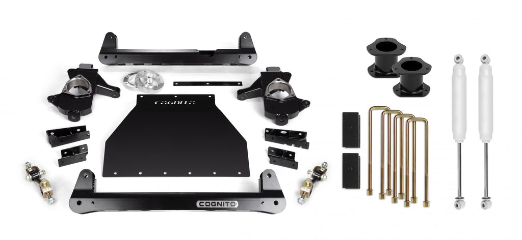 Cognito 4-Inch Standard Lift Kit for 14-18 Silverado/Sierra 1500 2WD/4WD With OE Stamped Steel/Aluminum Arms