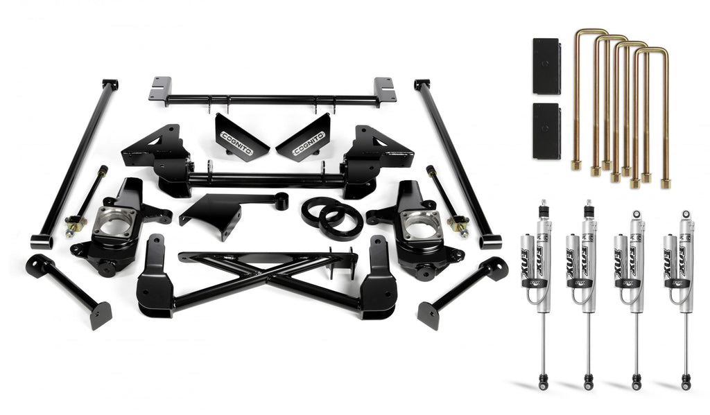 Cognito 7-Inch Standard Lift Kit With Fox PS 2.0 IFP Shocks for 01-10 Silverado/Sierra 2500/3500 2WD/4WD Non-StabiliTrak