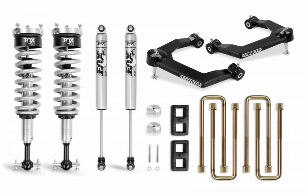 **Discontinued**Cognito 3 Inch Performance Uniball Leveling Lift Kit With Fox PS Coilover 2.0 IFP For 19-20 Silverado/Sierra 1500