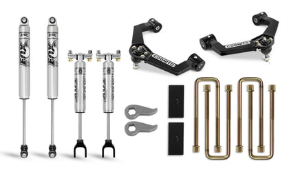 Cognito 3-Inch Performance Leveling Lift Kit With Fox PS 2.0 IFP Shocks for 20-21 Silverado/Sierra 2500/3500 2WD/4WD