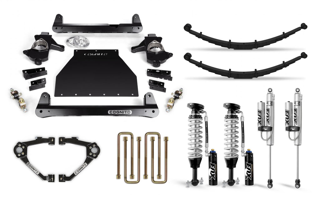 Cognito 6-Inch Elite Lift Kit with Fox FSRR Shocks for 07-18 Silverado/Sierra 1500 2WD/4WD With OEM Cast Steel Control Arms