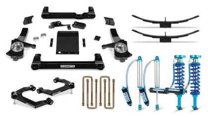 Cognito 4-Inch Elite Lift Kit with King 2.5 Remote Reservoir Shocks for 19-21 Silverado/Sierra 1500 2WD/ 4WD