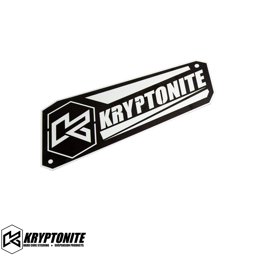 KRYPTONITE UPPER CONTROL ARM LOGO PLATE 2011-2021