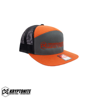KRYPTONITE 7 PANEL HAT GRAY / ORANGE