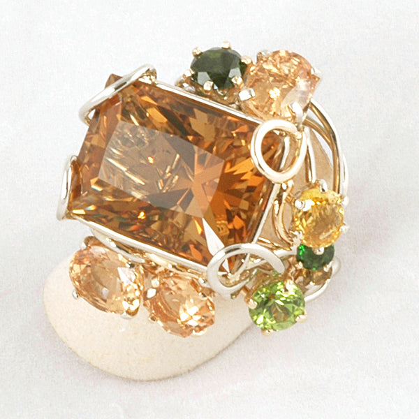 """Sun Flower"" Citrine Ring"