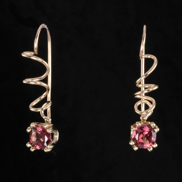 """Pick of the Vine"" Garnet Earrings"