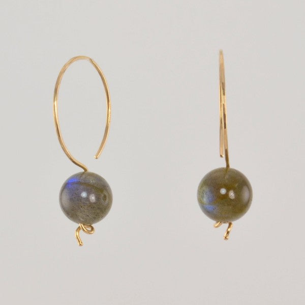 "Labradorite ""Saturn Hoops"""