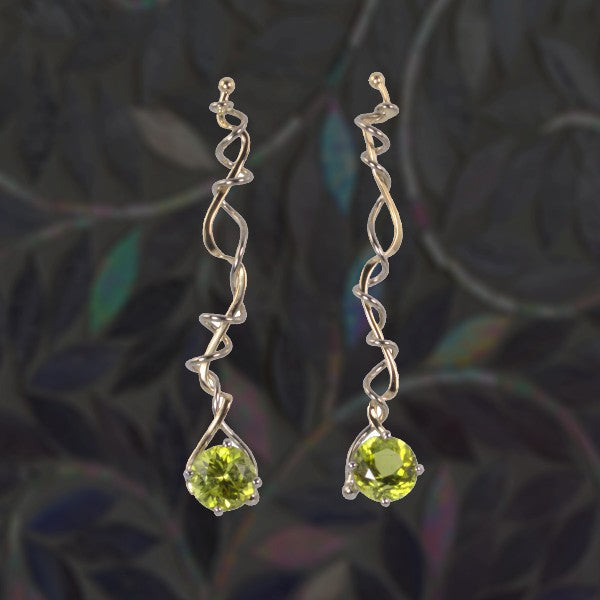 """Spring on the Vine"" Tourmaline Earrings"