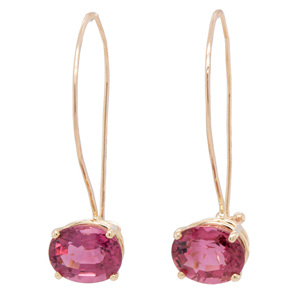 Pink Tourmaline French Wire Earrings