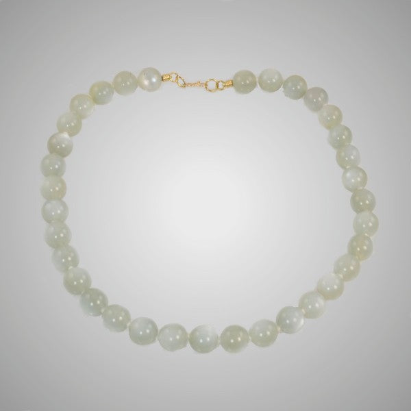 """Moonglow"" Pale Green Moonstone Necklace"