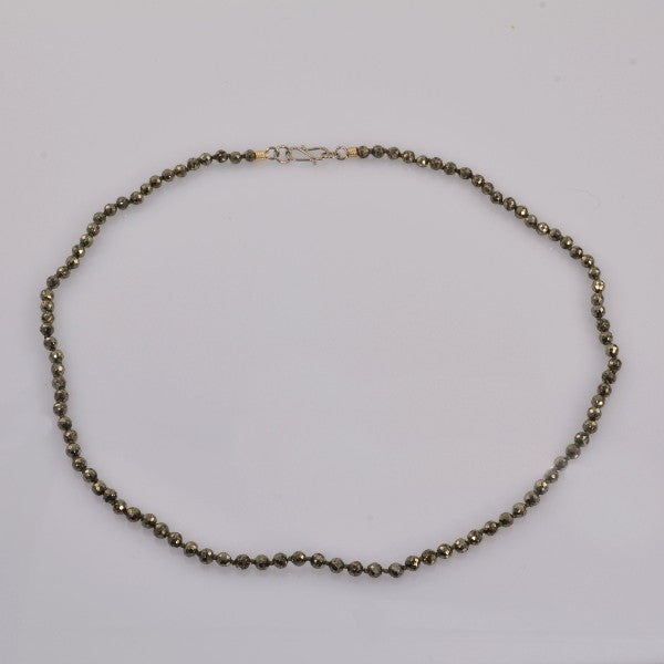 """Ghost of Gold"" Pyrite Necklace"