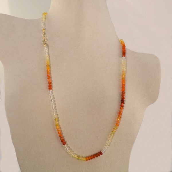 """Ice & Fire"" Opal Necklace"