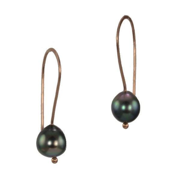 """Peacock Lustre"" Tahitian Pearl Earrings"