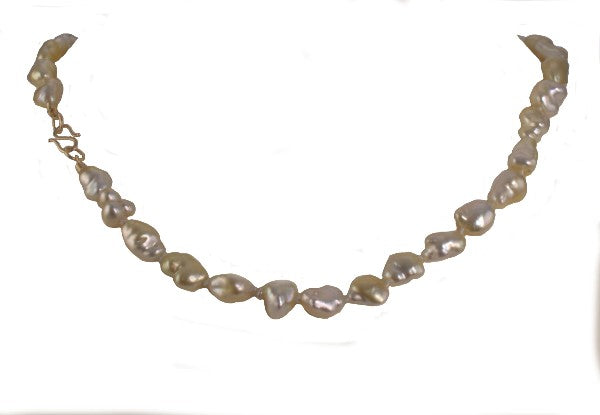 """Golden Paradise"" Pearl Necklace"
