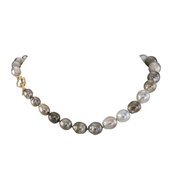 Silver Gray Tahitian Pearl Necklace