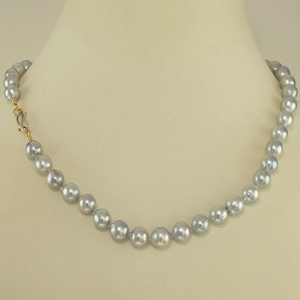 """Gray Akoya"" Pearl Necklace"