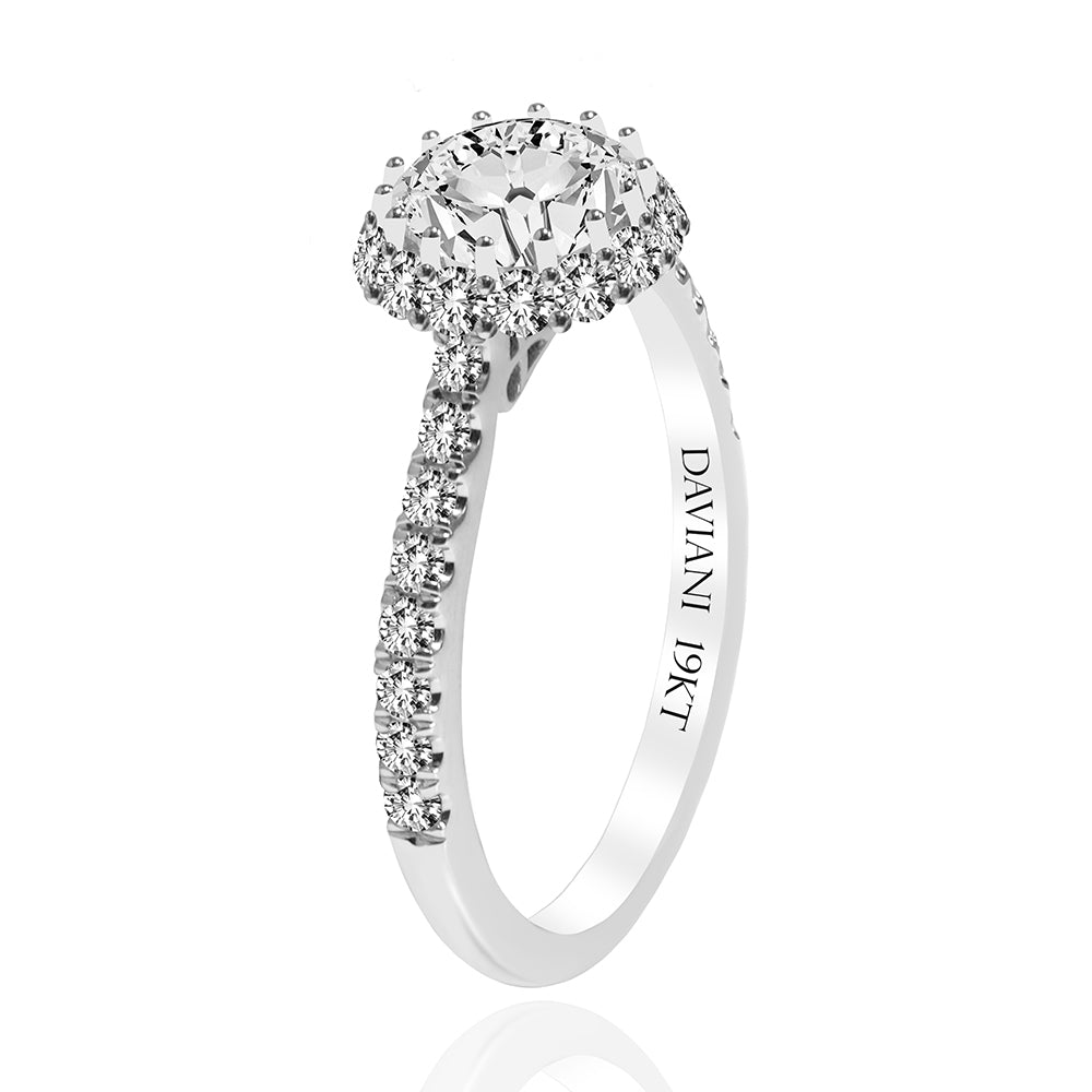 19k Daviani Engagement Ring