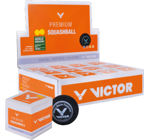 VICTOR Single Dot Squash Balls NZ